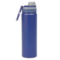 FlyLady's 25 ounce/750 ml Powder-Coated Stainless Water Bottle in Navy Blue